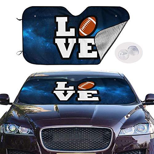 Auto Front Windschutzscheibe Sonnenschutz Usa Rugby American Football Lover Folding Auto Sonnenschutz für Auto Lkw Blockiert Uv Strahlen Sonnenblende Schutz Um Ihr Fahrzeug Kühl Zu Halten 51x27,5 Zoll
