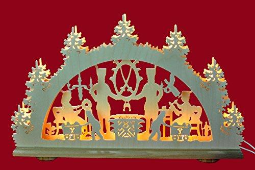 Schwibbogen Bergmann 2D=2 Ebenen als Weihnachtsdekoration für's Fenster Original Erzgebirge
