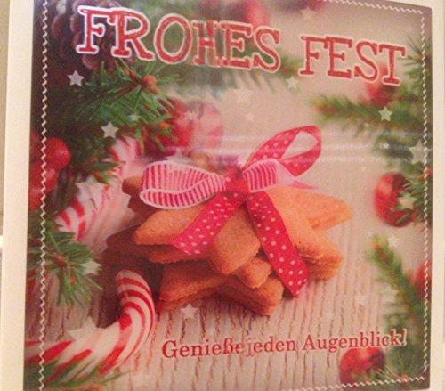 Depesche 3D Klappkarte Weihnachtskarte Frohes Fest - Genieße jeden Augenblick Plätzchen 034