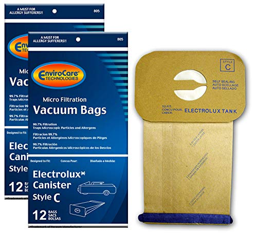 EnviroCare Replacement Micro Filtration Vacuum Cleaner Dust Bags made to fit Vacuum Bags for Electrolux Canisters Style C