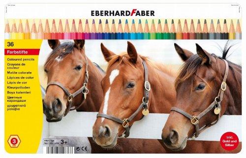 Eberhard Faber 514836 - Farbstift hexagonal 36er, Blechetui
