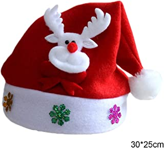Christmas Hats - Pop Kid Cheer Christmas Hat Children Santa Claus Reindeer Snowman Party Cute Cap Wedding Decoration - Cartoon Scarf Xmas Cute Pcb Pink Children Santa Hat Baby Photo Hats Sa