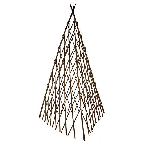 Annastore Rankhilfe in Pyramidenform aus Weide H 118 cm, flexibel