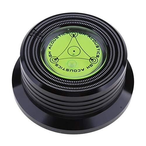 50/60 Hz Aluminium Plattengewicht LP Disc Stabilisator Plattenspieler Klemme Stabilisator Stroboskop Gradienter schwarz