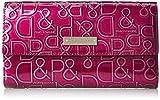 [ピンキーアンドダイアン] 財布 【ドルチェ】 エナメル ロゴ型押し ボルドー