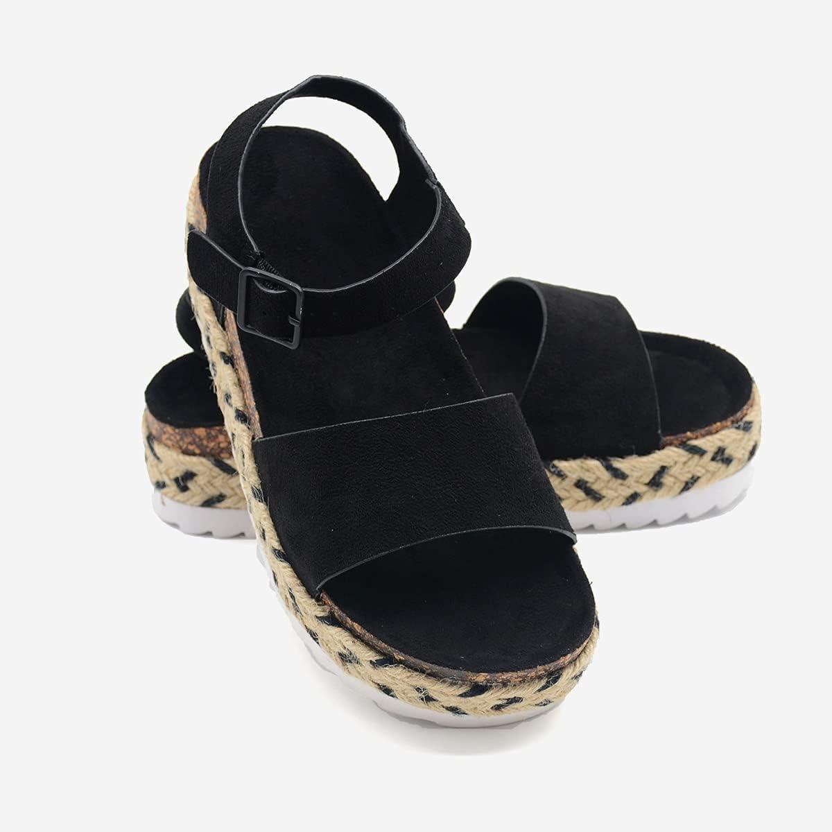 RAGEFIVE Slip On Wedge Sandals for Summer Casual Women Overseas parallel import regular Max 87% OFF item Espadrill