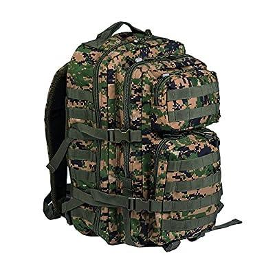Mil-Tec Military Army Patrol Molle Assault Pack Tactical Combat Rucksack Backpack (Digital Woodland, 36 Liter)