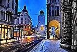 Plakat 60x90cm Demianplatz Görlitz im Winter