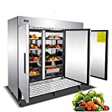 Commercial Freezer, 72 Cu. Ft. Freezer with 3 Doors, Stainless Steel Upright Freezer with 9 Adjustable Shelves, Bottom Mounted Freezer for Restaurant Cafe Bar (0℉ to 10℉)