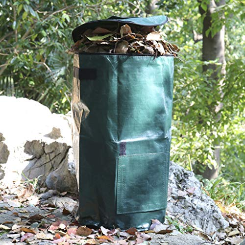 Buy YICOL Yard Waste Container Camping Trash Can Collapsible Garden Waste Bags Reusable Garden Waste...