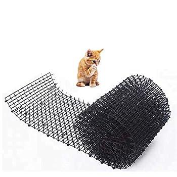 szyzl88 Répulsif Chat Extérieur Scat Tapis, Anti-Cats Réseau Animal de Compagnie Dissuasif Tapis pour Chats, Chien, Parasites - Intérieur/Extérieur Répulsif - Noir, 0.7x11.8x78.7inch