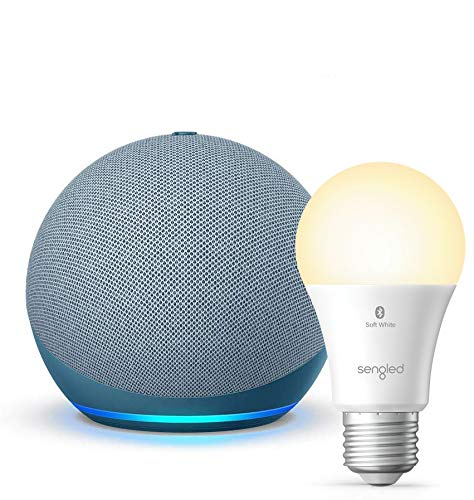 Nuevo Echo Dot (4ta Gen) - Creúsculo Azul - paquete con Sengled Bluetooth foco (producto Certificado para for Humanos)