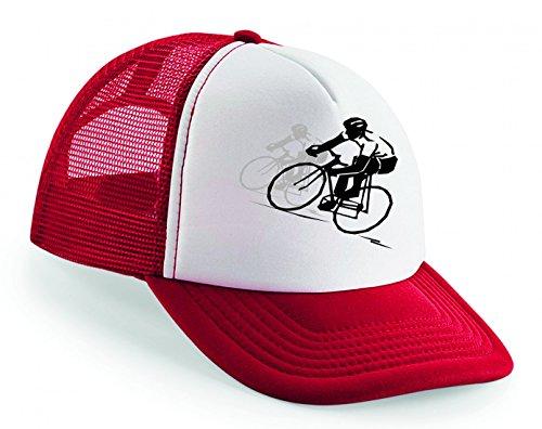 Snapback Radfahren- Rennsport- Fahrrad- RENNEN- Sport- ZYKLUS- Radfahrer- Geschwindigkeit- FAHRT- STRAßE- Helm- ÜBUNG- Athlet Unisex Baseballmütze Trucker Mützen Base Caps