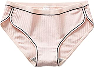 LOPELY Women's Panty Cotton Briefs Sexy Breathable Thread Underpants Underwear Brief Lingerie Breathable Soft Cotton