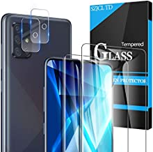[4G] 2 Pack Samsung Galaxy A51 Screen Protector + 2 Pack Camera Lens Protector, Anti-Scratch, Ultra Thin, Full Protection 9H Tempered Glass for Galaxy A51 4G