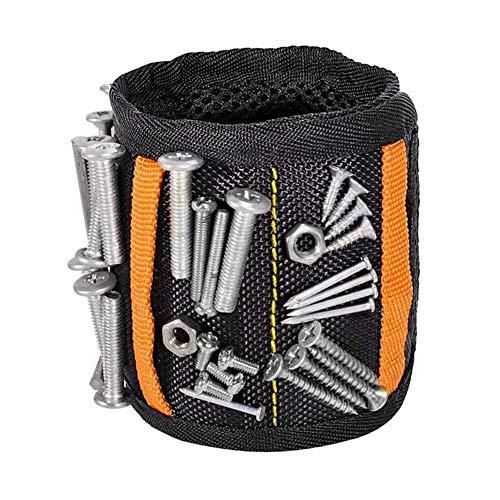 XYDZ Pulsera Magnética Gadget Gifts Para Hombre, Pulsera Magnética, 15 Potentes Imanes, Herramienta Magnética, Pulsera, Cinturón De Herramientas, El Mejor Regalo De Bricolaje Para Pulsera Magn