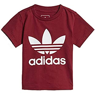 adidas Originals Infant's Trefoil T Shirt - Burgundy (3-4Y):Priorcastleinnvictoria