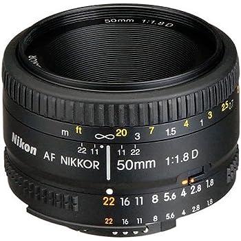 Nikon AF FX NIKKOR 50mm f/1.8D Lens with Auto Focus for Nikon DSLR Cameras (Renewed)
