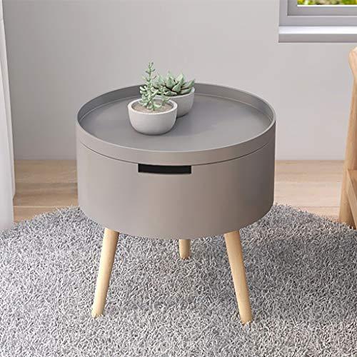 Tavolini da caffè Mesa de estar mesa de café nórdico pequeño apartamento balcón pequeña mesa redonda, mesa, mesa de café mesas de madera sofá mesas de extremo del lado de la mesa de la barra de la bar