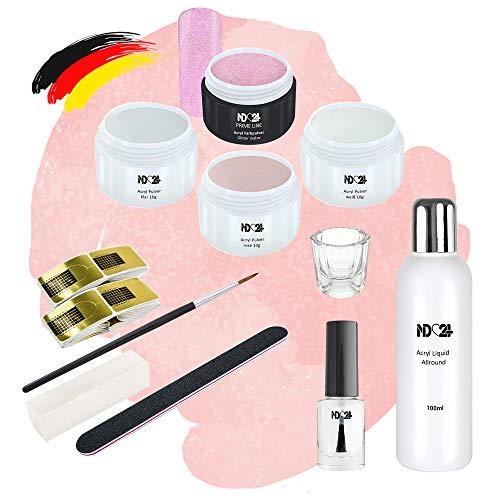 Starter Set Acryl - Pulver + Farbpulver Lila + Zubehör - Studio Qualität