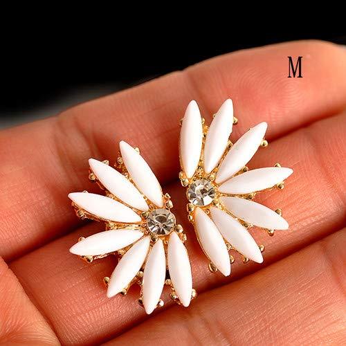 Arete Cruztriángulo Cubic Zirconia Fancy Crystal Flower Stud Pendientes Para Mujeres Niñas Joyería Regalo del Día de San Valentín Bohemia BijouxM