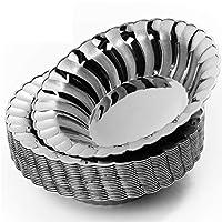 20 multiuso premium ciotole di plastica argento elegante, scodelle per zuppa, 18.5cm - robusto, durevole e riutilizzabile| perfetto per i compleanni matrimoni natale feste.
