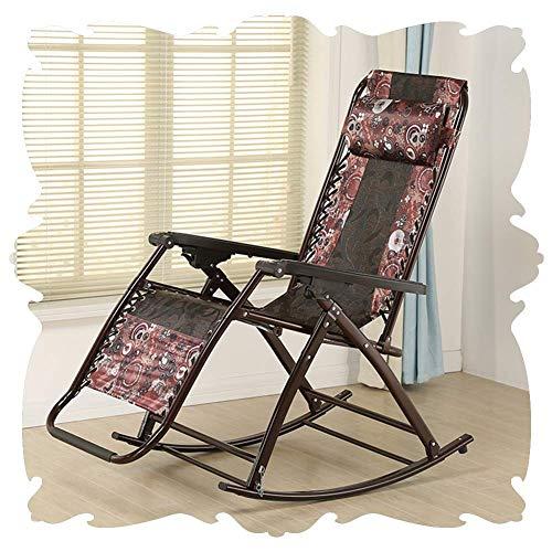 Lounge Chair Mecedora Silla de Tijera Sillones for Cualquier estación clásico Salón Retro tumbonas extraíble Almohada Porches Balcón reclinables 5 Estilo (Color : B)