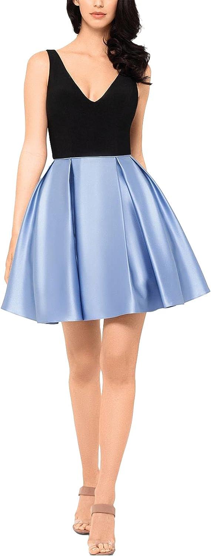 BETSY & ADAM Women's Ponte Satin Combo Fit & Flare Dress