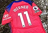 ADI Timo Werner#11 Jersey Fussball-Trikot 2020-2021 Full Premier Patch PINK Color (L)