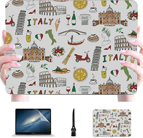 Case for MacBook Air Italy Symbol Landmarks Leaning Tower Plastic Hard Shell Compatible Mac product image