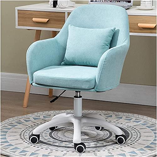 Silla de peluquería, silla de salón, silla de tarea, silla de ordenador, sin ruedas, acolchada con respaldo medio, oficina, escritorio, con reposabrazos, silla de oficina pequeña (color: A)