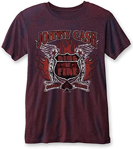 Johnny Cash - T-shirt - Uomo Navy Red Large