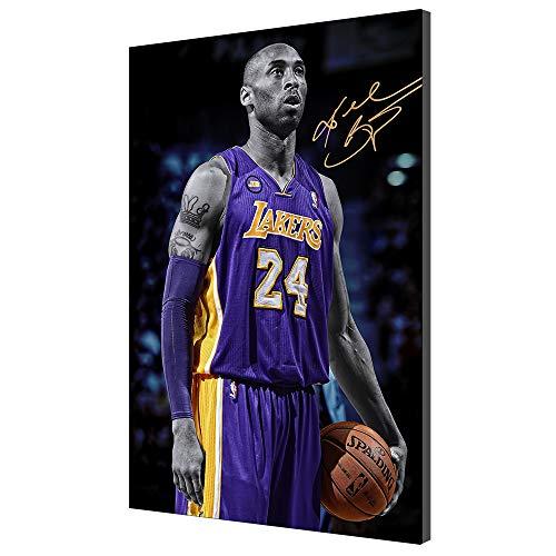 Basketball Fans Wandkunst Kunstwerk Leinwand Poster Kobe Bryant Bild Giclée-Druck Wohnkultur Landschaftsmalerei (Kein Rahmen,30x50cm)