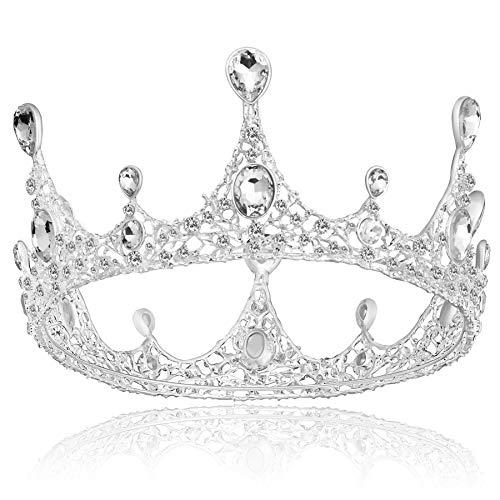 Coucoland Tiara para novia, corona de princesa, tiara para boda, corona de...