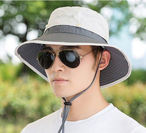 TAGVO Sombrero Ancho Sombreros para el Sol, Sombreros de Pescador Acam
