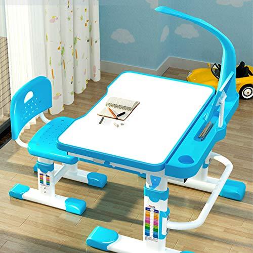 Mesa de estudio multifuncional para niños, escritorio ergonómico y ajustable, para estudiante, mesa de estudio para sala de estudio (tamaño: altura: 57-79 cm; color: azul)