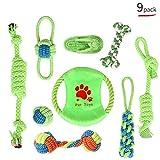 CEXWZQ Pet Dog - Cepillo de dientes para perros pequeños, para limpieza de dientes de goma suave, b, 9 piece set
