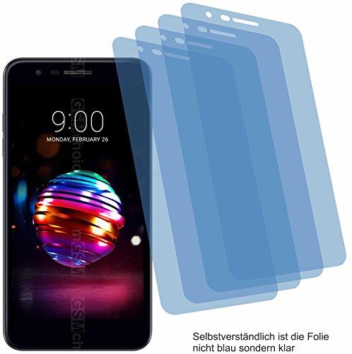 4ProTec I 4X Crystal Clear klar Schutzfolie für LG K10 2018 Bildschirmschutzfolie Displayschutzfolie Schutzhülle Bildschirmschutz Bildschirmfolie Folie