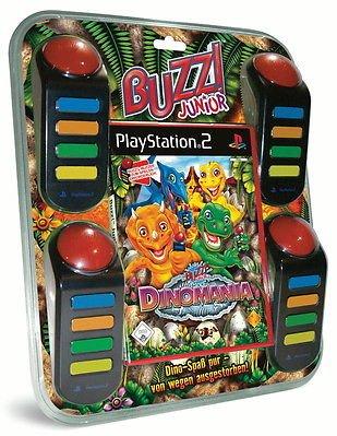 Buzz Junior Dinomania inkl. 4 Buzzer für Playstation 2