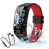 Smartwatch, Reloj Inteligente Impermeable IP68 para Hombre Mujer niños,Pulsera de Actividad Inteligente con 14 Modos de Deporte,con Pulsómetro,Blood Pressure,Sueño,Podómetro (Rojo)