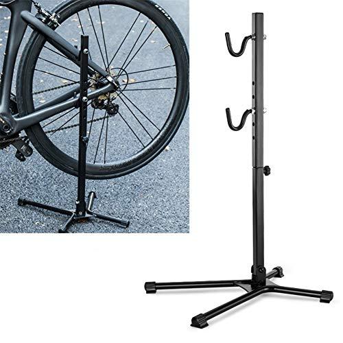 DADA NANA Indoor Bike Storage Rack Floor Parking Stand Foldable Bicycle Repair Rack Universal for Road and Mountain Bike Maintenance Home Garage Bicycle Shop Displaying Stand