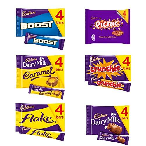 Cadbury Crunchie Chocolates Appreciation Gift Bundle | Boost Bar 4 x 40g | Milk Caramel 4 x 37g | Flake 4 x 20g | Picnic 4 x 38g | Crunchie 4 x 32g | Dairy Milk 4 x 36g | Great Gift Idea