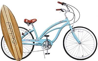 "Fito Marina Alloy SHIMANO 7-speed Women - Sky Blue, 26"" Wheel Beach Cruiser Bicycle"
