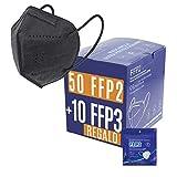 Mascarillas FFP2 + FFP3 Homologadas Certificado CE - Negras. Bolsa individual. PACK PA: 50...