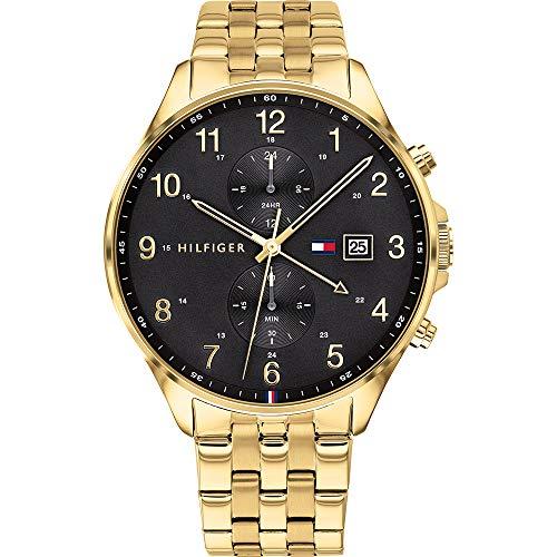 Tommy Hilfiger Herren Analoger Quarz Uhr mit Edelstahl Armband 1791708