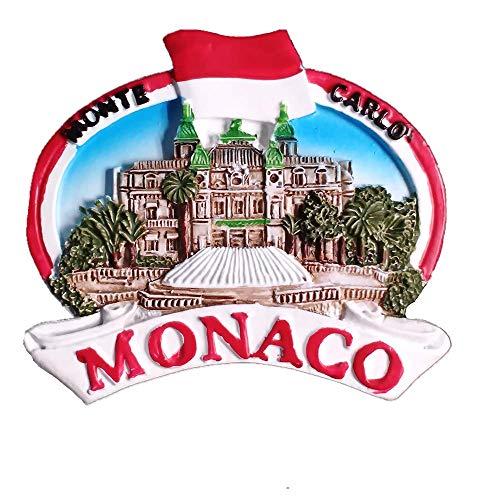 Monte Carlo Monaco 3D Fridge Magnet Travel Souvenir Gift Home Kitchen Decoration Magnetic Sticker, Monaco Refrigerator Magnet Collection