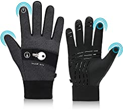 NICEWIN Touch Screen Cycling Gloves for Men Women Winter Cold Weather Hand Warm Thermal Gloves for Bike Running Driving Texting Motorcycle Golf Bicycle Gray L