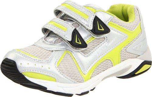 Jumping Jacks Euro Rachet Sneaker (Toddler/Little Kid),Citron/Grey/White Multi,23 M EU (6-6.5 M US Toddler)
