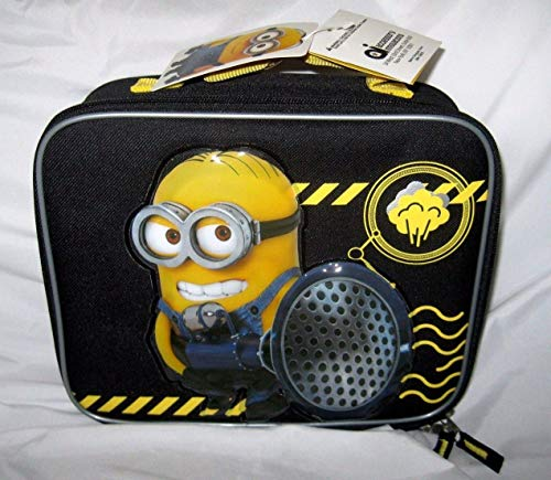 """Granny's Best Deals (C) DESPICABLE ME 3 MINIONS BLOW HORN BLASTER 9.5"""" INSULATED LUNCHBOX LUNCH BAG-NEW"""