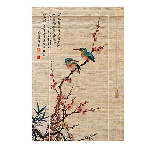 LIANGJUN Store Enrouleur Bambou Rideau Haute Définition Impression Tissage Style Chinois Type De Rouleau Crème Solaire Personnalisable (Couleur : C, taille : 80x180cm)